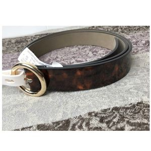 A New Day | NWT Gold O-Ring Belt Tortoise Pattern